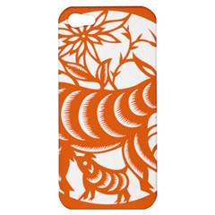 Chinese Zodiac Goat Star Orange Apple iPhone 5 Hardshell Case