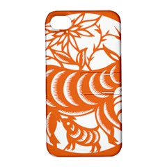 Chinese Zodiac Goat Star Orange Apple iPhone 4/4S Hardshell Case with Stand
