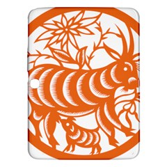 Chinese Zodiac Goat Star Orange Samsung Galaxy Tab 3 (10.1 ) P5200 Hardshell Case