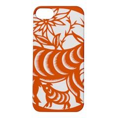 Chinese Zodiac Goat Star Orange Apple iPhone 5S/ SE Hardshell Case