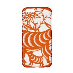 Chinese Zodiac Goat Star Orange Apple iPhone 6/6S Hardshell Case