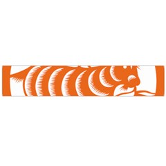 Chinese Zodiac Goat Star Orange Flano Scarf (large)