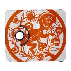 Chinese Zodiac Horoscope Monkey Star Orange Galaxy S3 (Flip/Folio)