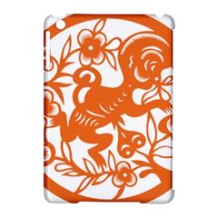 Chinese Zodiac Horoscope Monkey Star Orange Apple iPad Mini Hardshell Case (Compatible with Smart Cover)