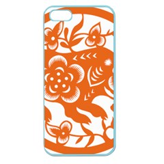 Chinese Zodiac Horoscope Pig Star Orange Apple Seamless iPhone 5 Case (Color)