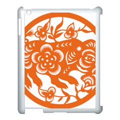 Chinese Zodiac Horoscope Pig Star Orange Apple iPad 3/4 Case (White)
