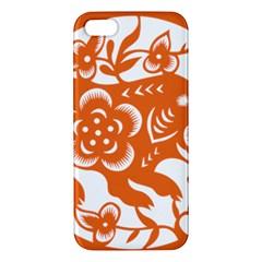 Chinese Zodiac Horoscope Pig Star Orange Apple iPhone 5 Premium Hardshell Case