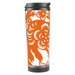 Chinese Zodiac Horoscope Pig Star Orange Travel Tumbler