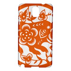 Chinese Zodiac Horoscope Pig Star Orange Samsung Galaxy Note 3 N9005 Hardshell Case
