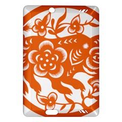 Chinese Zodiac Horoscope Pig Star Orange Amazon Kindle Fire HD (2013) Hardshell Case