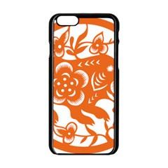 Chinese Zodiac Horoscope Pig Star Orange Apple iPhone 6/6S Black Enamel Case