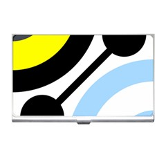 Circle Line Chevron Wave Black Blue Yellow Gray White Business Card Holders