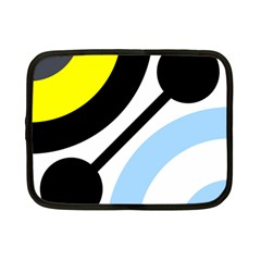 Circle Line Chevron Wave Black Blue Yellow Gray White Netbook Case (Small)