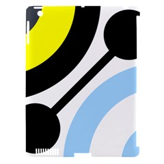 Circle Line Chevron Wave Black Blue Yellow Gray White Apple iPad 3/4 Hardshell Case (Compatible with Smart Cover)