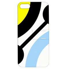 Circle Line Chevron Wave Black Blue Yellow Gray White Apple iPhone 5 Hardshell Case with Stand