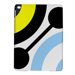 Circle Line Chevron Wave Black Blue Yellow Gray White iPad Air 2 Hardshell Cases