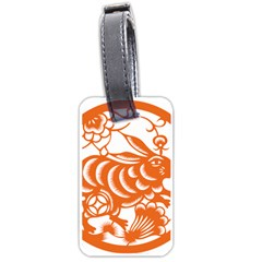 Chinese Zodiac Horoscope Rabbit Star Orange Luggage Tags (Two Sides)