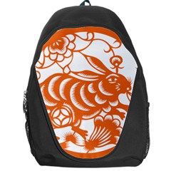 Chinese Zodiac Horoscope Rabbit Star Orange Backpack Bag