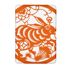 Chinese Zodiac Horoscope Rabbit Star Orange Samsung Galaxy Tab 2 (10.1 ) P5100 Hardshell Case