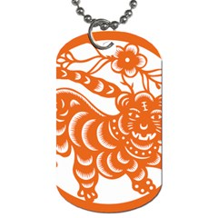 Chinese Zodiac Signs Tiger Star Orangehoroscope Dog Tag (One Side)