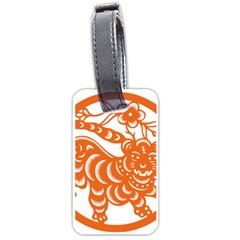 Chinese Zodiac Signs Tiger Star Orangehoroscope Luggage Tags (Two Sides)
