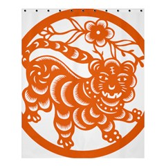 Chinese Zodiac Signs Tiger Star Orangehoroscope Shower Curtain 60  x 72  (Medium)