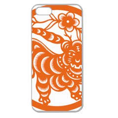 Chinese Zodiac Signs Tiger Star Orangehoroscope Apple Seamless iPhone 5 Case (Clear)