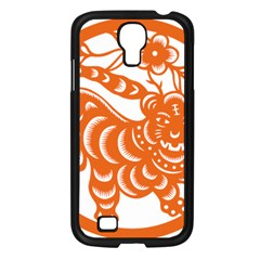 Chinese Zodiac Signs Tiger Star Orangehoroscope Samsung Galaxy S4 I9500/ I9505 Case (Black)
