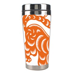 Chinese Zodiac Signs Tiger Star Orangehoroscope Stainless Steel Travel Tumblers
