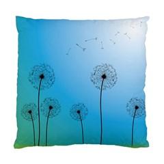 Flower Back Blue Green Sun Fly Standard Cushion Case (Two Sides)