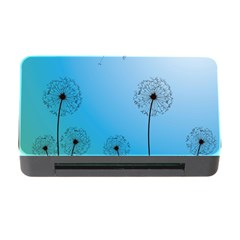 Flower Back Blue Green Sun Fly Memory Card Reader with CF
