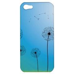Flower Back Blue Green Sun Fly Apple iPhone 5 Hardshell Case