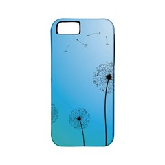 Flower Back Blue Green Sun Fly Apple iPhone 5 Classic Hardshell Case (PC+Silicone)
