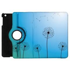 Flower Back Blue Green Sun Fly Apple iPad Mini Flip 360 Case