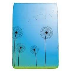 Flower Back Blue Green Sun Fly Flap Covers (L)