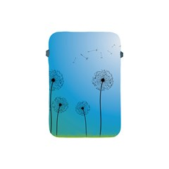 Flower Back Blue Green Sun Fly Apple iPad Mini Protective Soft Cases