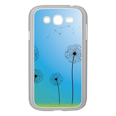 Flower Back Blue Green Sun Fly Samsung Galaxy Grand DUOS I9082 Case (White)