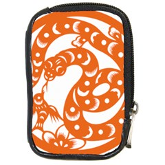 Chinese Zodiac Horoscope Snake Star Orange Compact Camera Cases