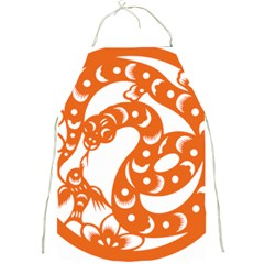Chinese Zodiac Horoscope Snake Star Orange Full Print Aprons