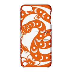 Chinese Zodiac Horoscope Snake Star Orange Apple iPod Touch 5 Hardshell Case with Stand