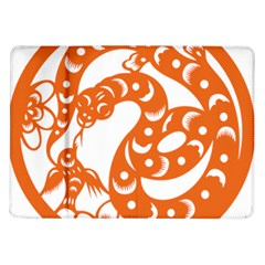 Chinese Zodiac Horoscope Snake Star Orange Samsung Galaxy Tab 10.1  P7500 Flip Case
