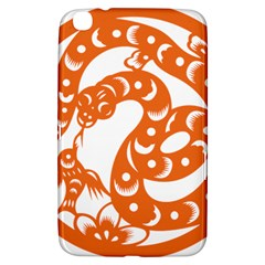 Chinese Zodiac Horoscope Snake Star Orange Samsung Galaxy Tab 3 (8 ) T3100 Hardshell Case