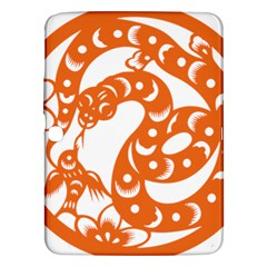 Chinese Zodiac Horoscope Snake Star Orange Samsung Galaxy Tab 3 (10.1 ) P5200 Hardshell Case