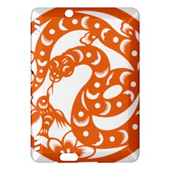 Chinese Zodiac Horoscope Snake Star Orange Kindle Fire HDX Hardshell Case