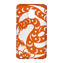 Chinese Zodiac Horoscope Snake Star Orange Galaxy Note Edge