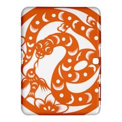 Chinese Zodiac Horoscope Snake Star Orange Samsung Galaxy Tab 4 (10.1 ) Hardshell Case