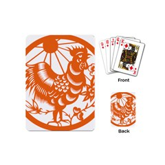 Chinese Zodiac Horoscope Zhen Icon Star Orangechicken Playing Cards (Mini)