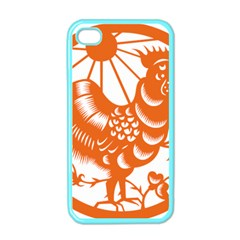 Chinese Zodiac Horoscope Zhen Icon Star Orangechicken Apple iPhone 4 Case (Color)