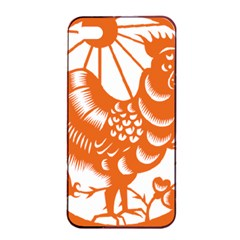 Chinese Zodiac Horoscope Zhen Icon Star Orangechicken Apple iPhone 4/4s Seamless Case (Black)