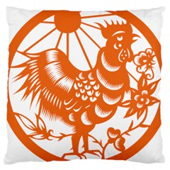 Chinese Zodiac Horoscope Zhen Icon Star Orangechicken Large Cushion Case (Two Sides)